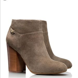 • Tory Burch • Fulton Ankle Booties Suede Gray 8